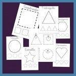 Formas geométricas para recortar - Escuela en la nube
