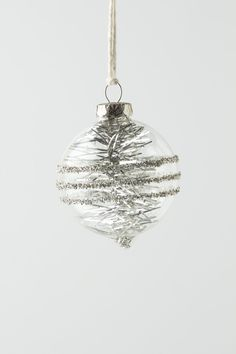 Ornament / Anthropologie.com #TwinklingTinselBubble #Sparkle #Anthropologie