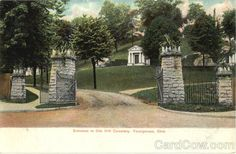 Entrance To Oak Hill Cemetery Youngstown Ohio