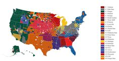 Texas Rules College Football in Fascinating Facebook Data Map