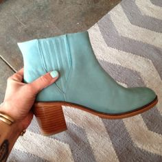 Samantha Pleet for Wolverine blue 'Arc' boots at Myrtle