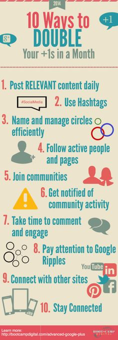 10 Ways to double your +1 Google+ #infografia #infographic #socialmedia