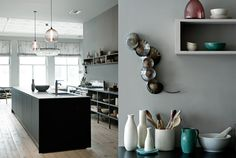 kitchen accents, wall colors, grey walls, crystal chandeliers, design boards, kitchen lighting, black kitchens, grey kitchens, gray paint