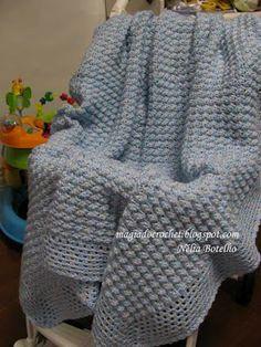 Magia do Crochet: colcha em crochet para bebé