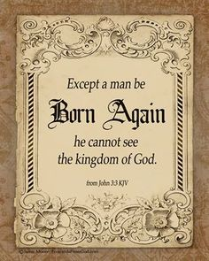John 3:3 ~ Words of Jesus
