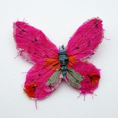 Beautiful fabric butterfly brooch -by  abigail brown