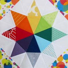 Quilting under the rainbow. So beautiful!