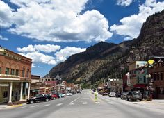 Almost completely surrounded by the San Juan peaks, Ouray, Colorado calls itself the Switzerland of America.