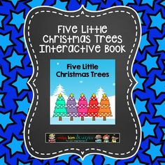 Adapted Book: Five Little Christmas Trees an interactive book about Christmas. Created for unique learners who need intense vocabulary instruction.