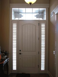 Custom Sidelight Shutters by One Stop Decorating Shutters, via Flickr