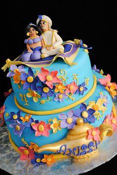 Aladdin and Princess Jasmine Cake by casa de cupcake, via Flickr