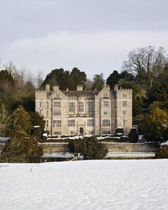 A winter view of Fountains Hall, North Yorkshire