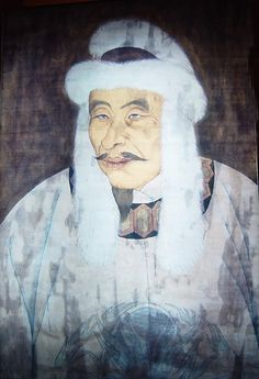 Emperor Taizu of Jin, Wanggiyan Aguda (完颜阿骨打), Emperor of the Jin Dynasty, who  from 28 Jan 1115 – 19 Sep 1123 AD.   He was the chieftain of the Jurchen (女真) Wanyan (完顏) tribe, founder and first emperor of the Jin Dynasty (金朝) and was the younger brother of Wanyan Wuyashu (完颜鳥雅束).  In Sep 1114, Aguda rallied his tribesmen (around 2,500 men) at Lalin River near Fuyu Weizitun, Jilin province) and began open rebellion. His cavalry troops captured defeated  7000-strong Liao7000-strong Liao troops.