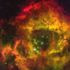 This stunning emission-line image of the Rosette nebula (NGC2237) has been re-processed in support of NOAO Press Release 04-03. The Rosette nebula is found in the constellation Monoceros (the Unicorn).