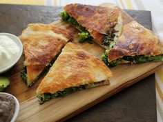 "Home Skillet - Cooking Blog: Broccoli Quesadillas - ""Our Usual"" and the ""Fancypants"""