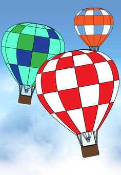 wikiHow to Draw a Hot Air Balloon -- via wikiHow.com