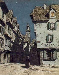 T. F. Simon  A seemingly little known Czech graphic artist, he was a master of discovering both the beautiful and the mysterious aspects of Prague. A European counterpart to the numerous master Japanese printmakers of the early twentieth century.