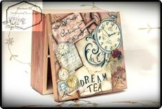 Selenarte Decoupage - Unique Home Decor: Autumn Colours And My Vintage Style Tea Box