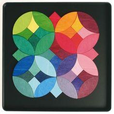 Grimms Wooden Magnetic Tile Color Wheel Puzzle