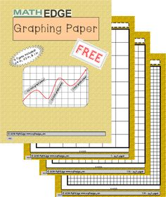 Ahhh.... One less thing to worry about ***free*** perfectly measured graphing paper in 3 sizes!!