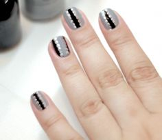 Orly Matte Glossy Gray and Black Fall Nail Design Tutorial! | NailIt! Magazine
