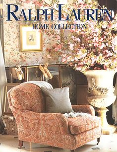 Ralph Lauren Home Archives, Unknown collection, Floral chair detail, 1995