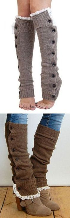 Button Down Leg Warmers // 2 ways to wear them .. SO cUte!