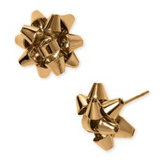 Christmas bow earrings!