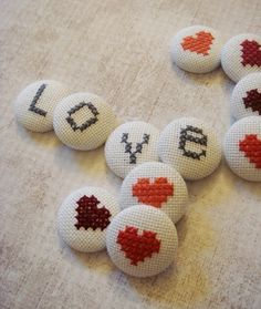 Hearts and Alphabet Cross Stitch PDF Pattern | by andwabisabi