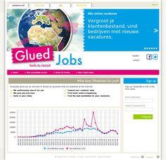 The website 'http://www.gluedjobs.com/' courtesy of @Pinstamatic (http://pinstamatic.com)