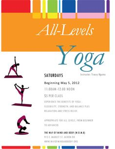 Yoga class flyer template yoga templates on pinterest flyers yoga and flyer template stopboris Gallery