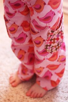 I think I need to make some flannel pajamas for Olivia.