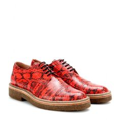 mytheresa.com - Snakeskin derby shoes - loafers & moccasins - Shoes - Sale - Luxury Fashion for Women / Designer clothing, shoes, bags toe cap, van noten, dri van