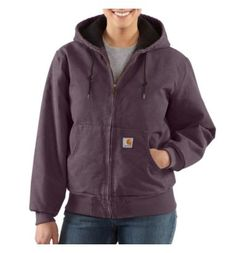 Carhartt - Product - Women's Sandstone Active Jac/Quilted Flannel Size Medium in Dusty Plum