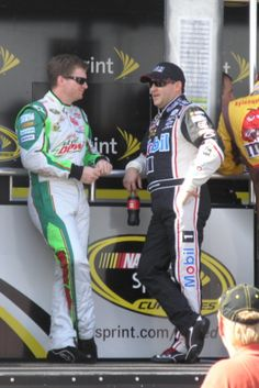 Loudon, NH Dale Jr and Tony Stewart, September 2011