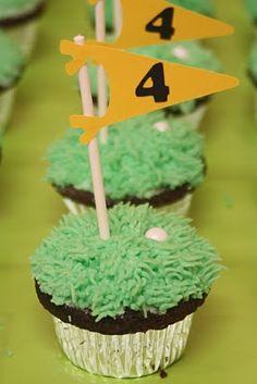 birthday, balls, golf idea, cups, cupcakes, golf cupcak, cake decor, cup cake, bday parti