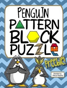 Penguins / Winter Pattern Block Puzzle -- Freebie!