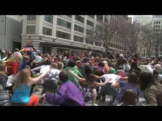 Official Seattle Glee Flash Mob Video - Seattle, Westlake. a thousand people dancing. more flash mobs = less obesity.