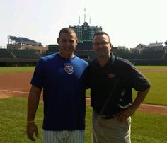 Current and former #Cubs first basemen Anthony Rizzo and Mark Grace: