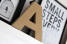 Carpeta y letra de cartón