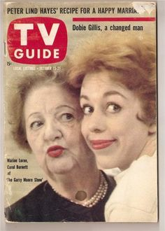 "Marion Lorne and Carol Burnett in ""The Garry Moore Show"" on the cover of ""TV Guide, "" October 15-21, 1960."
