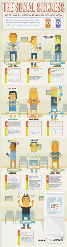 SOCIAL MEDIA - Social Media Sickness #infographic.