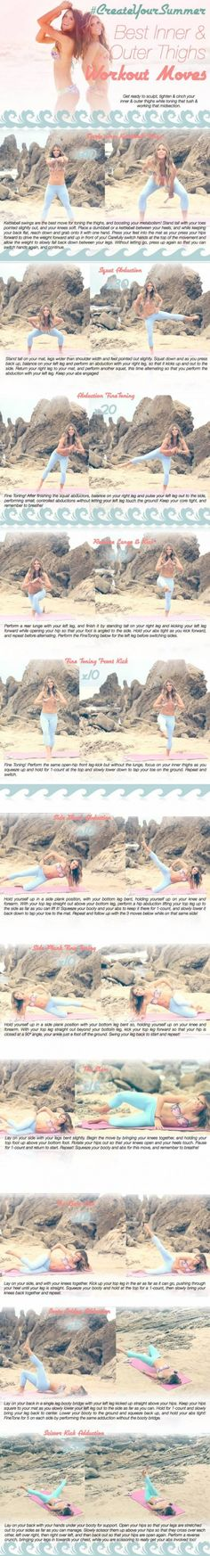 Sculpt, tighten and cinch those thighs with your NEW Inner & Outer Thigh Workout Routine!!! #BIKINISERIES