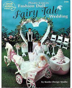 Fashion Doll Fairy Tale Wedding Plastic Canvas Pattern  American School of Needlework 3154. $24.00, via Etsy.