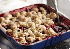 Driscoll's Mixed Berry Cobbler www.driscolls.com #driscolls #sweepstakes
