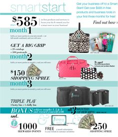 Get your business off to a Smart Start! Get over $585 in free products and business tools in your first three months for free! - Find out how.  www.myinitials-inc.com/therese/
