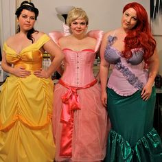 Plus Size Costume Ideas: Your daughter will love you as a Disney Princess!  She doesn't care that you are not a size 4.  She will just be excited that Mommy is a real princess!