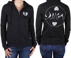 RVCA Women's Corina Heart Zip Hoodie