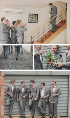 Pretty neat groom & groomsmen collage - Melbourne Wedding Photography K 6