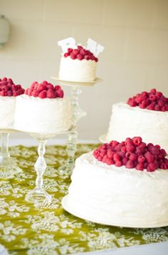 Love the idea of fresh berries on the cake (I LOVE berries!) Incorporating Raspberries into your Summer Wedding